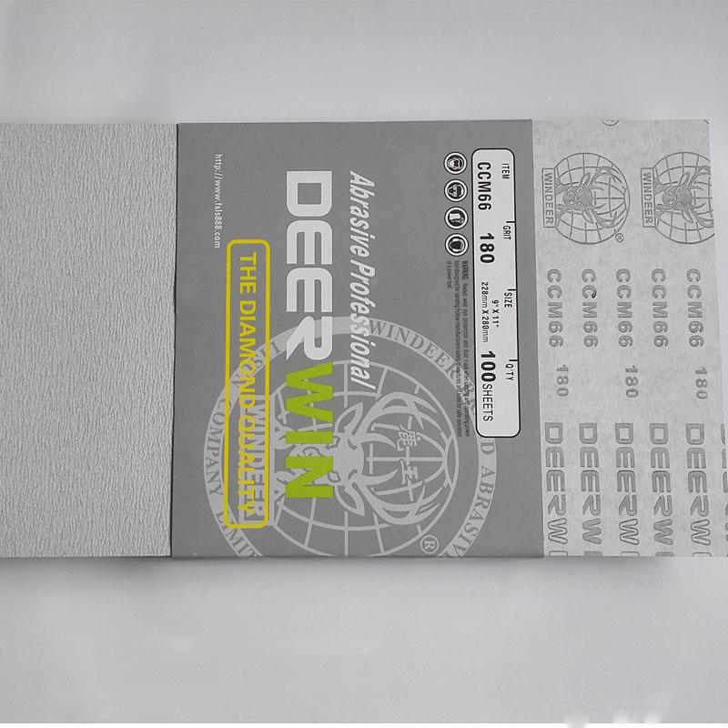 鹿王牌CCM66干磨砂纸